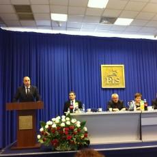 Poseł Kraczkowski pzremawia na Radzie Politycznej PiS